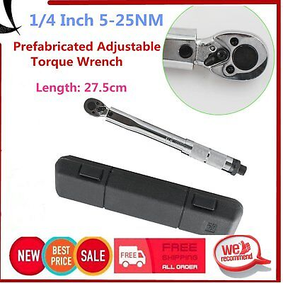 1/4 Inch 5-25NM Prefabricated Adjustable Torque Wrench Drive Click WrenchDENS
