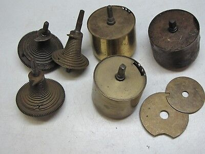 Old Fusees and Barrels for Dial or Bracket clocks