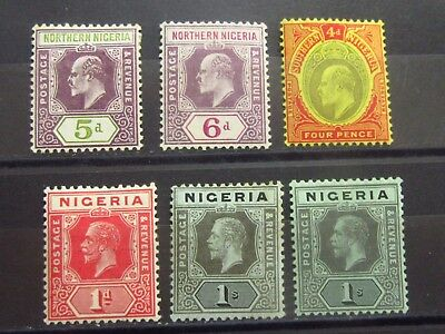 NIGERIA British Colonies Old Stamps -  Mint MH - r32e5564