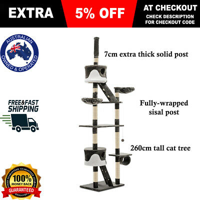 iPet Cat Large Scratching Pole Post Furniture Tree Scratcher Toy House Condo