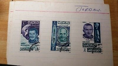 Jordan 1966 Stamps Manned Flights Astronauts Space MNH rare b1