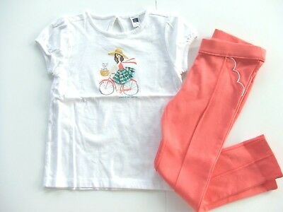 NWT JANIE /& JACK SUNSHINE DAYDREAMS 4 or 5 Striped Top /& Scalloped Ponte Pants