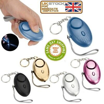 Keyring Police Approved  Personal Panic Rape Attack Safety Security Alarm 140db