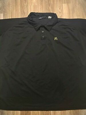 Mcdonalds Apparel Collection Work Shirt Black Short Sleeve Polo Size Large L