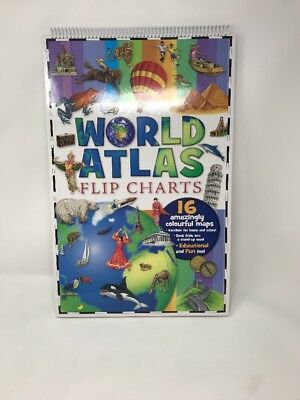 Childs Educational World Atlas Flipchart Book Excellent For Home Or School