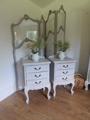 Pair of vintage French style  bedside cabinets