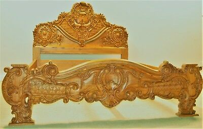 Solid Wood King Size Ornate French Louis XV Style Brand New
