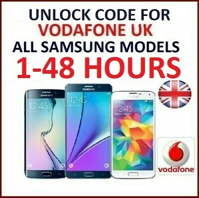 Official Unlock Code For Samsung Galaxy Ace, Ace 2 S2, S3, Mini J5 Vodafone UK