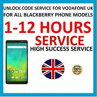 UNLOCK CODE FOR BLACKBERRY Passport Classic Leap VODAFONE UK NETWORK ONLY