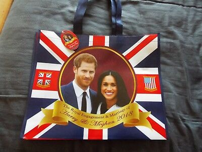 NEW ROYAL COMMEMORATIVE SHOPPING BAG of PRINCE HARRY & MEGHAN MARKLE MARRIAGE