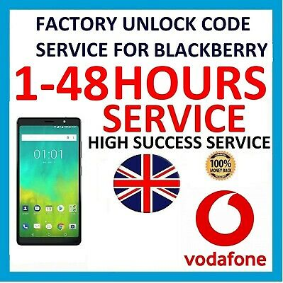 Factory Unlock Code For BLACKBERRY 9720 9320 Z10 Vodafone UK Network