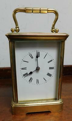 large brass cased carriage clock for restore