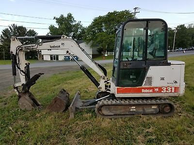 1999 BOBCAT 331 Mini Excavator - Full Cab - Hyd Thumb - 2 Buckets