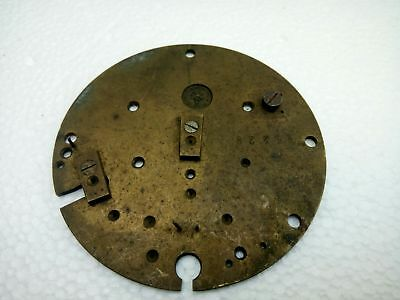 """Antique Vintage French Japy Freres Brass Clock Plate 3 1/4"""" Diameter"""