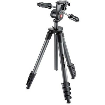 Manfrotto Compact Advanced Aluminum Tripod with 3-Way Head MKCOMPACTADV-BK