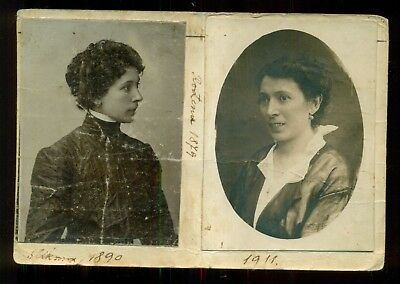 """Unique 1911 Polish Postcard """"Dane Baranovic"""" w/Real Photos Affixed to Front"""