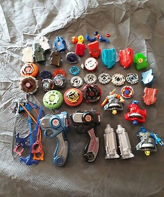 Large Vintage Beyblade lot Spinners Metal Masters Rip Chords over 50 peices rare