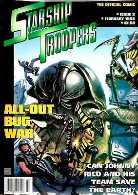 Starship Troopers Official Comic Magazine #2 Nm Nice Clean Condition