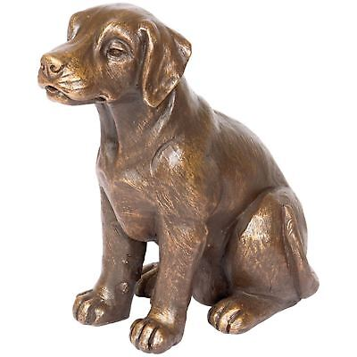Dog Cremation Urn Pet Memorial Statue Ashes Bottom Load