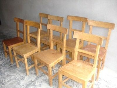 Kitchen Chairs - Genuine Rustic farmhouse old Antique pine seats