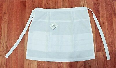 NWT Hungarian Felkoteny Embroidered White 100% Cotton Apron Traditional Folk