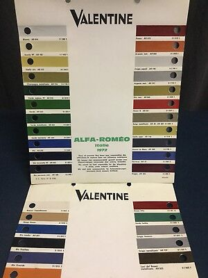Rare Lot Nuancier Colori 1970's ALFA ROMEO MONTREAL GIULIA  JUNIOR Z 2000 GTV!