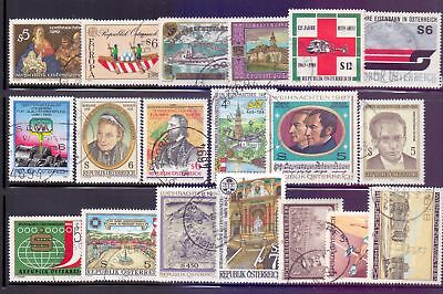 Austria  1980/89  Selection of 19, used.