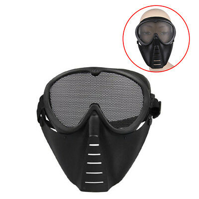 Tactical Cycling Mask Airsoft Black Survival Full Goggles Paintball Safety Face