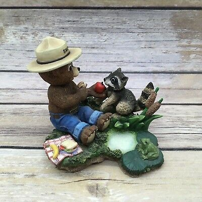 """1998 Smokey the Bear Figurine """"Whats Mine is Yours""""  Little Pals Collection"""