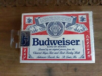 Budweiser King of Beers Playing Cards,  All 52 cards, sealed and unopened ~ NEW!