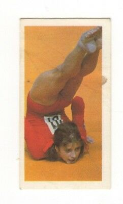 Olympic Games Gymnastics Card 1979. Olga Korbut, USSR