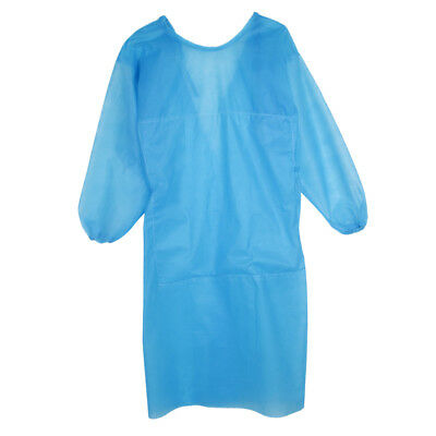 Blue Disposable Surgical Gown Coat Light Dust Clothes Woven Overalls Pack
