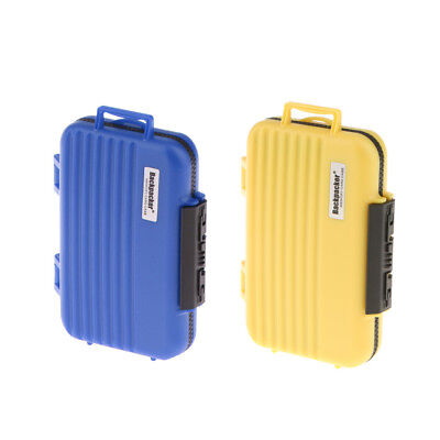 SD CF TF Card Storage Case Holder Protective Box Water Resistant Yellow+Blue