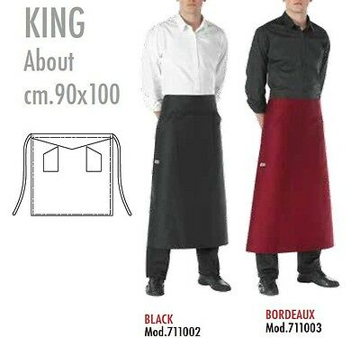 Flap King Cook Chef Waiter cm 90X100 Egochef Made in Italy Apron Waiter