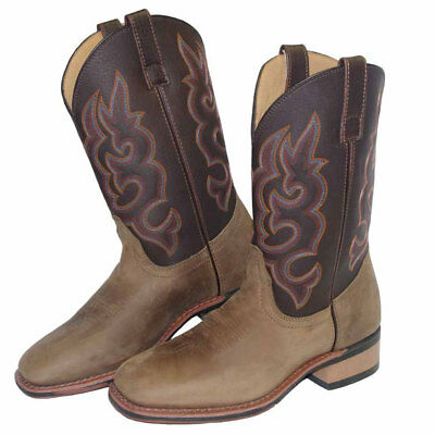 Baxter Mens Square Toe Western Boots