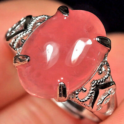 14.85CT 100% Natural 18K Gold Plated Rhodochrosite Cab Ring UDHW143