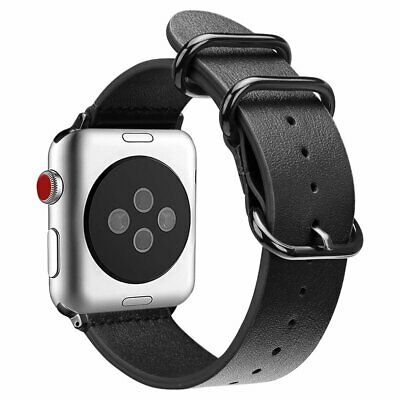 Genuine Leather Strap Wrist Bands for Apple Watch Series 3 Series 2 / 1 All 42mm