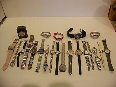 Lot Of Watches - Faberge Seiko Timex Casio Anne Klein Bell & Rose Rumours Dkny +