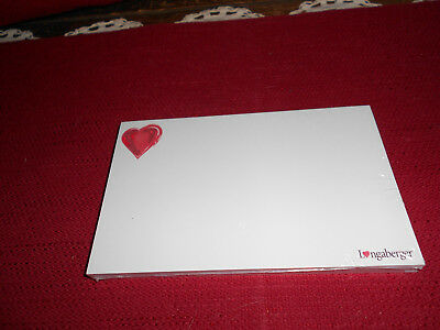 Longaberger 1 PKG SWEETHEART LOVE NOTE CARDS!  NIB!   L@@K!   BIN!