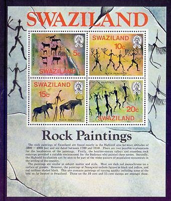 Swaziland  1977  Mini sheet, Rock Paintings, MNH.