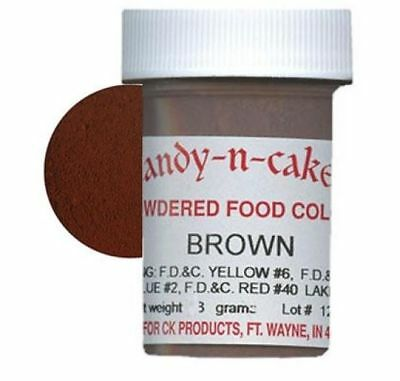 Brown Food Coloring Dry Powder Chocolate Royal Icing Buttercream Candy Fondant