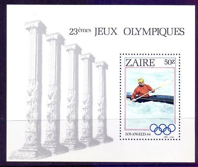 Zaire  1984  Mini sheet, Los Angeles Olympics, M NG.