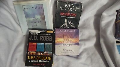 Audio books on cd lot (Lot #3) 6 books - Free Shipping (Reduced)