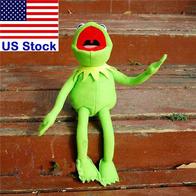 "18"" New Kermit The Frog Sesame Street Muppet Frog Plush Toy with Iron Indside"