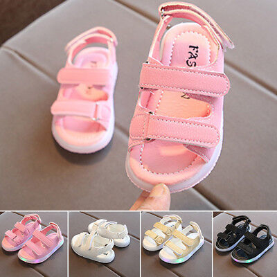 Fashion Baby Boys Girls LED Lights Sandals Toddler Kids Beach Shoes Size:21~26