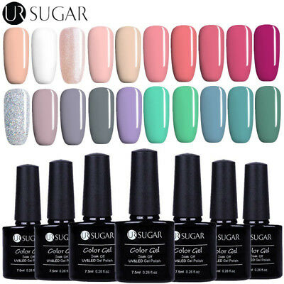 7.5ml Nail Art Vernis à Ongles Semi-permanent UV Gel Polish Manucure UR SUGAR