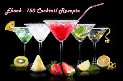 150 Cocktail Rezepte eBook + Master Lizenz Kostenlos - free Drinks Mix + more -