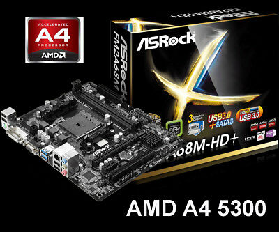 Preishammer! ASRock Bundle Set Mainboard A68M AMD A4 5300 3,7GHz Aufrüst Kit