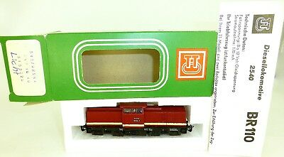110 104-7 Diesel Locomotive M Light 1:120 TT Original Box Manual BTTB 02544 Mint