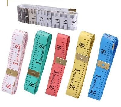 "Body Measuring Ruler Sewing Tailor Tape Measure Soft Flat 60"" /150cm"